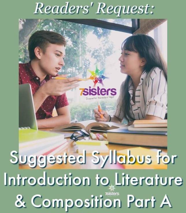 Suggested Syllabus for Introduction to Literature & Composition Part A
