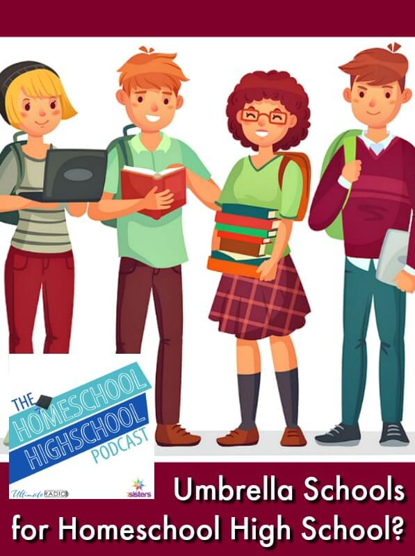 HSHSP Ep 137: What Are Umbrella Schools for Homeschool High School? Otherwise known as hybrid schools, university-model schools or charter schools. Either way they are good resources for many families.