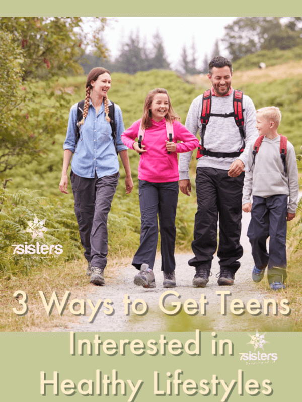 3 Ways to Get Teens Interested in Healthy Lifestyles. Some teens need a little extra motivation for self-care. Here are 3 ways to motivate teens for living healthily. #HomeschoolHighSchool #HighSchoolHealth #HealthyLifestyleForTeens #SelfCareForTeens #7SistersHomeschool