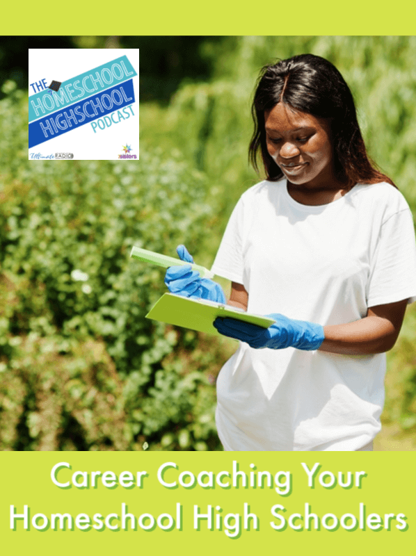 HSHSP Ep 179: Career Coaching with Homeschool High Schoolers, Interview with Jamie Beck. Informative Career Exploration interview with ideas for homeschool moms to help teens make realistic choices. #HomeschoolHighSchoolPodcast #HomeschoolCareerExploration #CareerCoachingIdeasForTeens #HomeschoolHighSchool