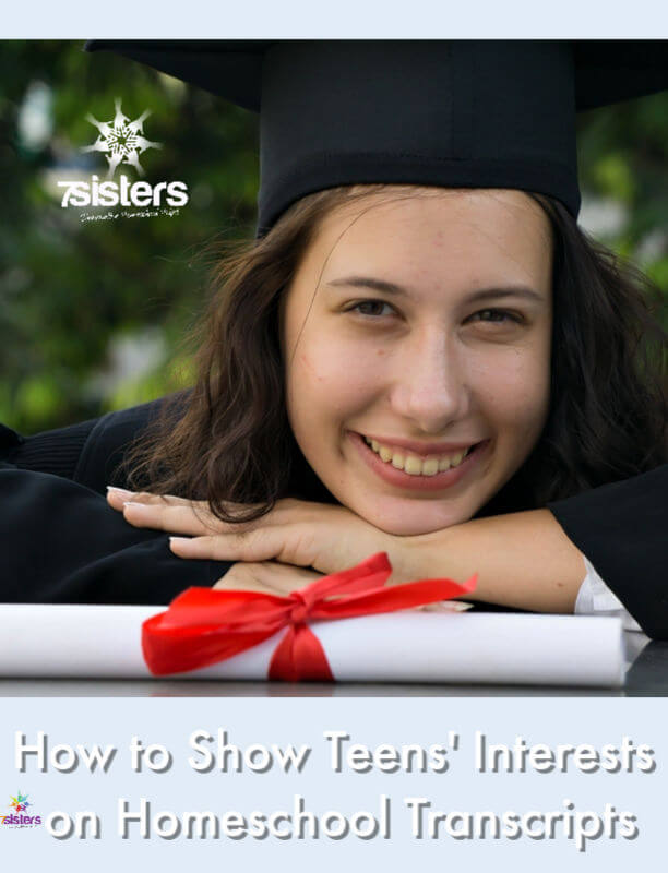 How to Show Teens' Interests on Homeschool Transcripts. Create a standout homeschool transcript for college-bound teens or career-bound teens. Here's how and why. #HomeschoolHighSchool #HighSchoolTranscripts #HomeschoolTranscript #HomeschoolToCollege #CollegeAttractiveTranscripts