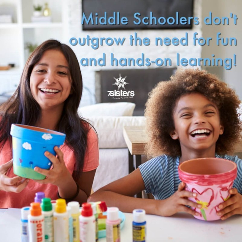 Homeschool middle schoolers don't outgrow the need for fun and hands-on learning!