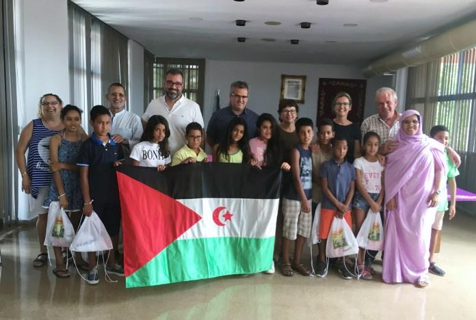 Niños y niñas saharauis en Xirivella