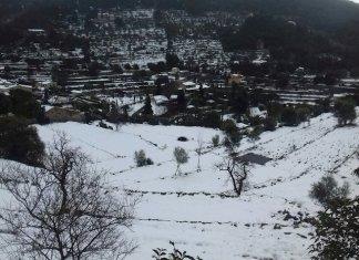 Nieve en Puebla San Miguel