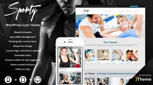 Sporty Gym WordPress Theme