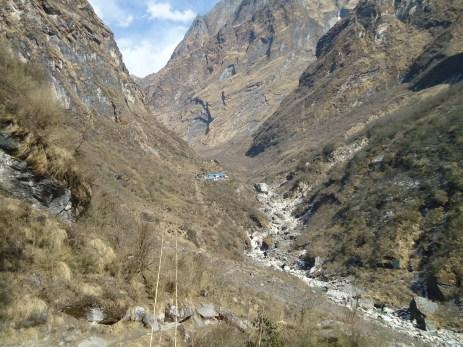 Llegando al refugio Himalaya