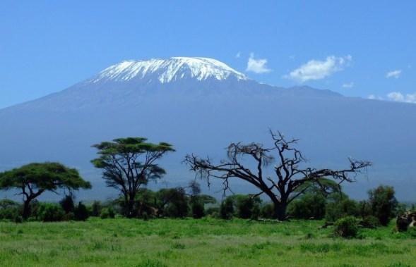 kilimanjaro view from road
