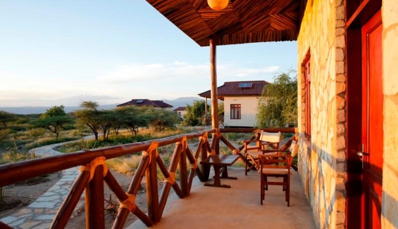 Lake eyasi Safari Lodge room-verandah