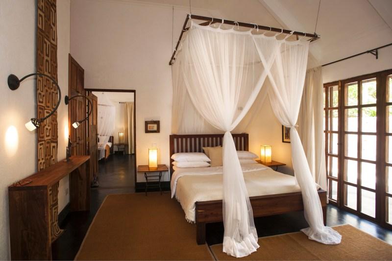 Plantation farm lodge double bedroom