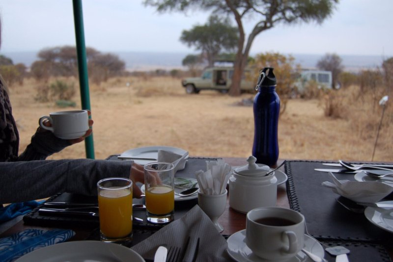 breakfast-looking-out at Angata Camps