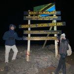 Seven Wonders Safaris Guest at the peak o Mt. Kilimanjaro Summit