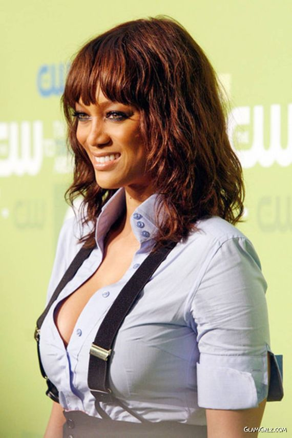 Supermodel Tyra Banks At CW Event