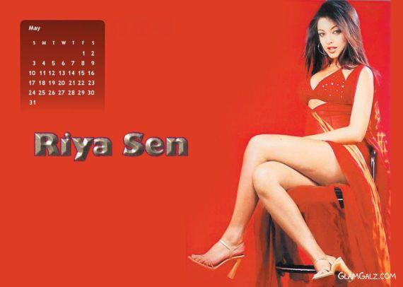 Click to Enlarge - Riya Sen 2009 Monthly Calender