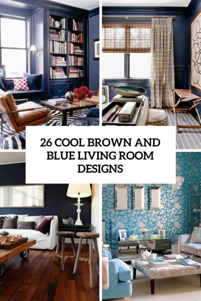 . Cool Brown And Blue Living Room Designs   Funotic com