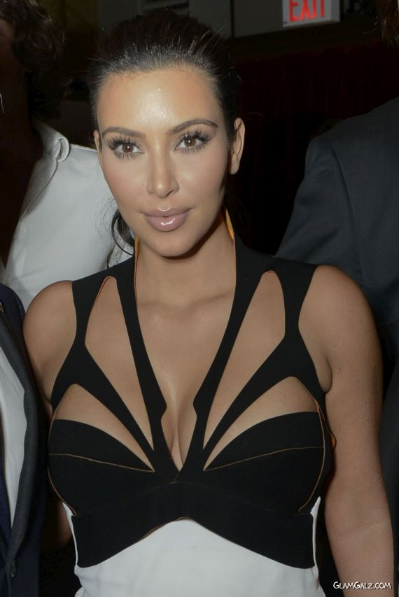 Miss Kardashian Attends Brian Atwood Party