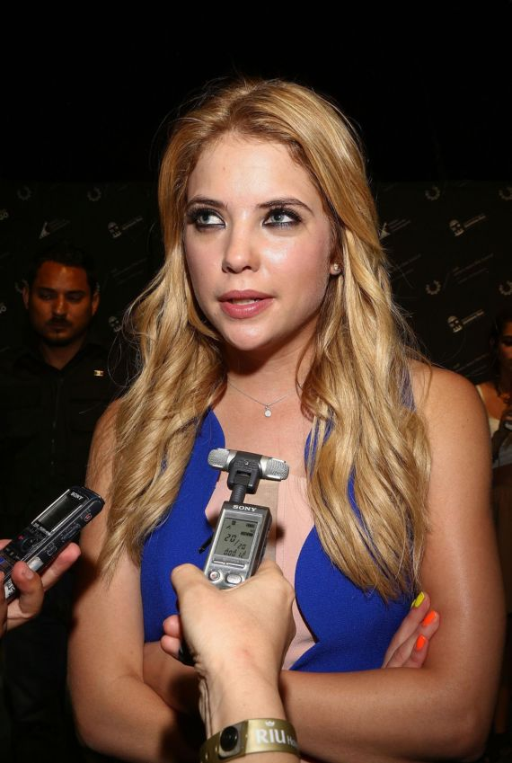 Ashley Benson Looks Awesome In Blue Dress