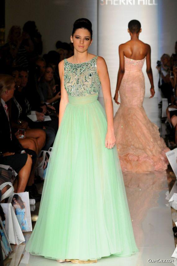 Kendall Jenner Walks Ramp For Sherri Hill Fashion Show