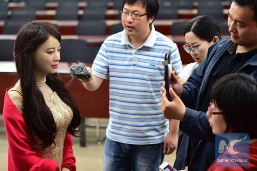 Meet China's First Interactive Robot Jiajia