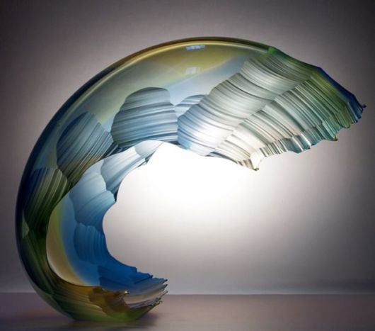 Classic Glass Sculptures Mimic Crashing Ocean Waves And Water Bodies