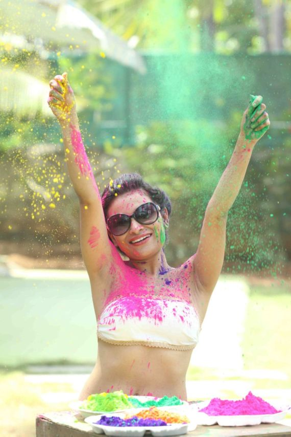 Kesariee Playing Holi In A Gorgeous White Dress
