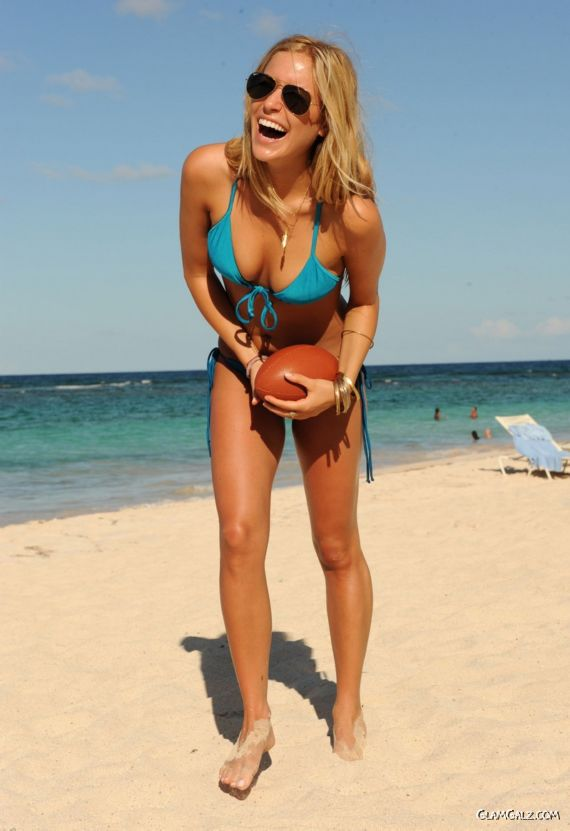 Kristin Cavallari Bikini Football Shoot