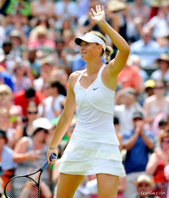Maria Sharapova Plays Wimbledon Championships