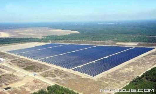 Solarpark Lieberose Power Plant in Germany