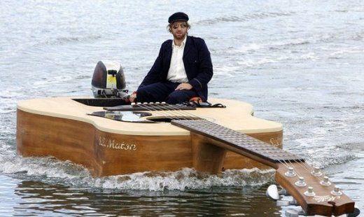Floating Guitar of Josh Soldering