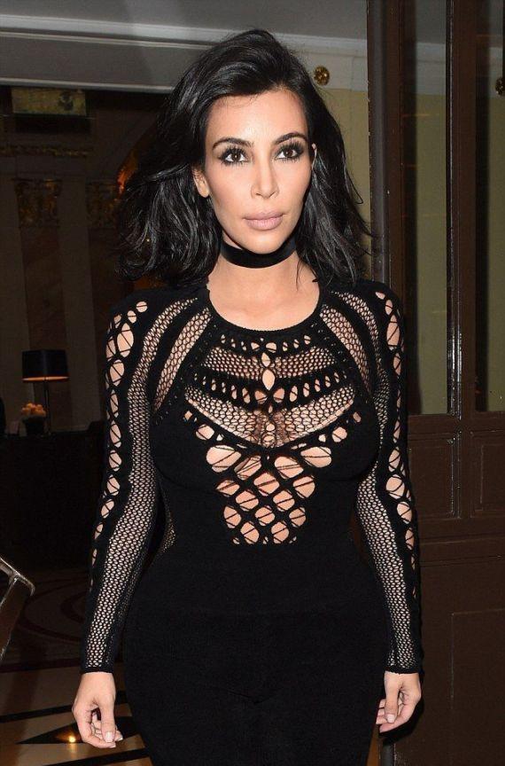Kim Kardashian At 2015 BRIT Awards In London
