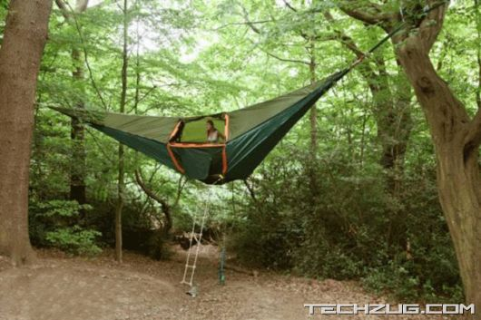 An Unusual Tent Above The Ground'