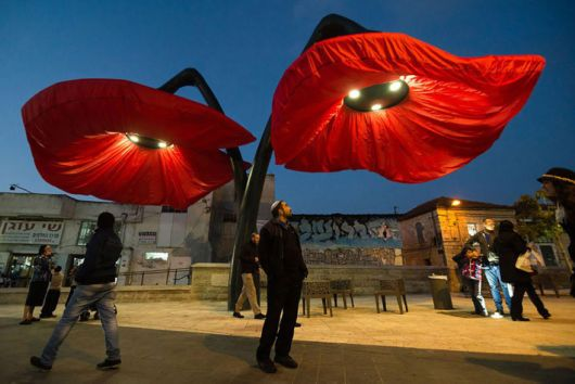 These Flower Lamps Bloom When People Stand Under Them