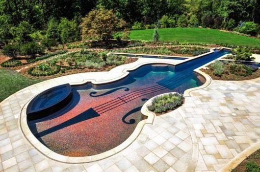 Stradivarius Violin Shaped Swimming Pools