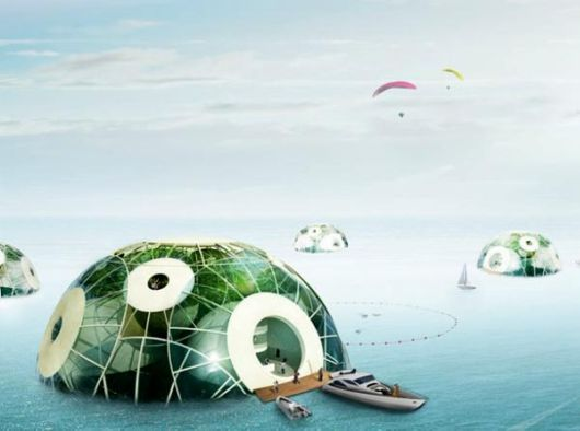 Futuristic Bloom Aquatic Phytoplankton Farm