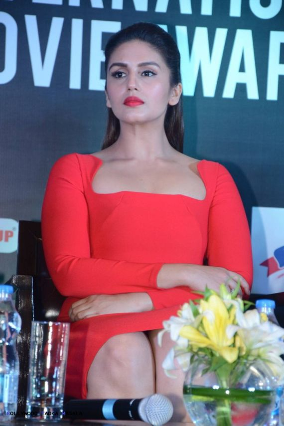 Huma Qureshi Looks Dazzling In A Red Dress