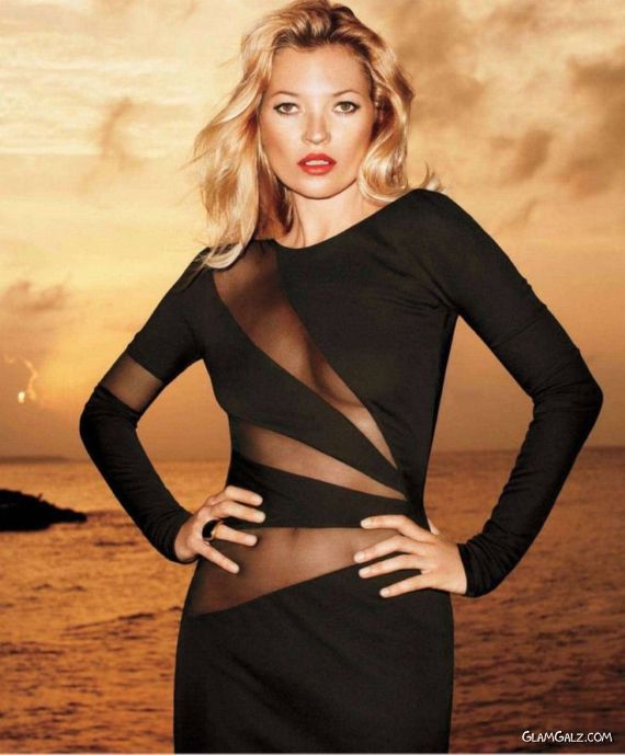 Kate Moss Graces Harper Bazaar US