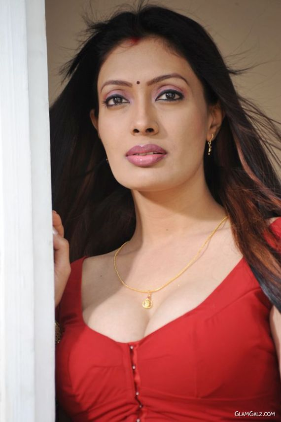 Beautiful Surabhi In Red Saree