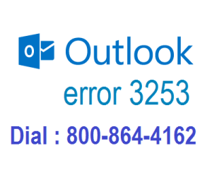 Outlook error 3253