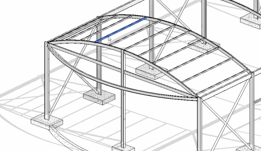 Curved Roof Beams in Revit