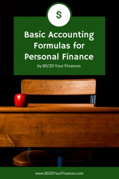Basic Accounting formulas for personal finances