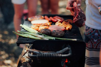 Grill outside to reduce the heat inside and reduce your utility bill