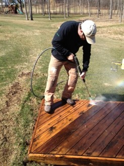 Cleaning wood is a Topcoat specialty