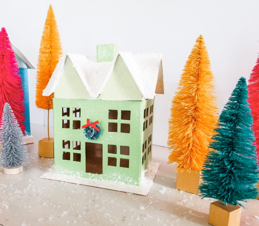 How to create a colorful Christmas village