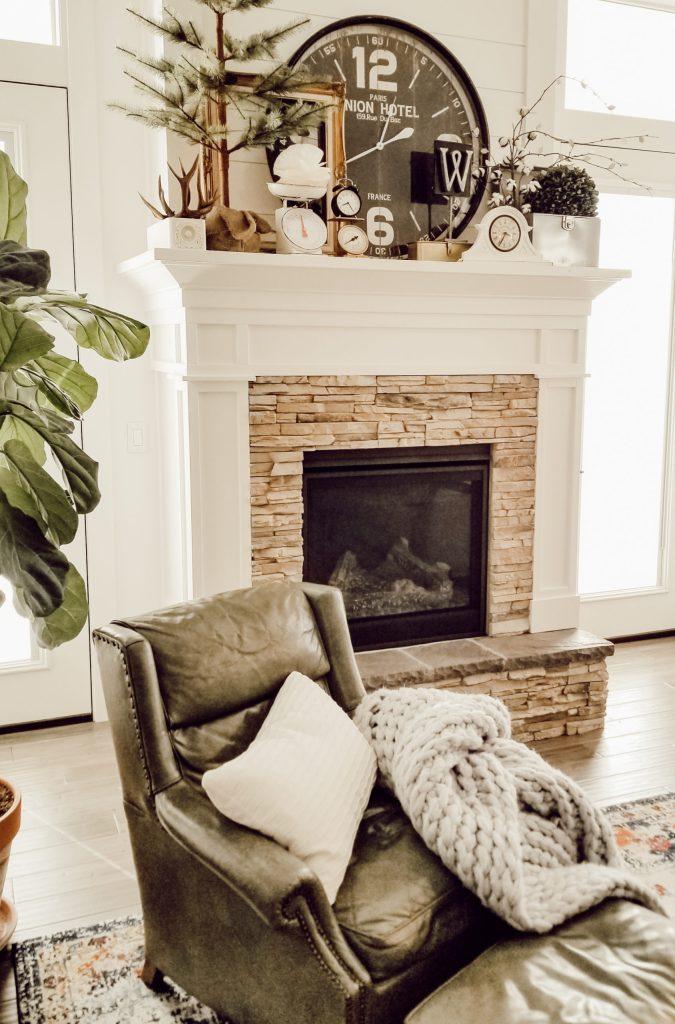 Add cozy elements for winter decor
