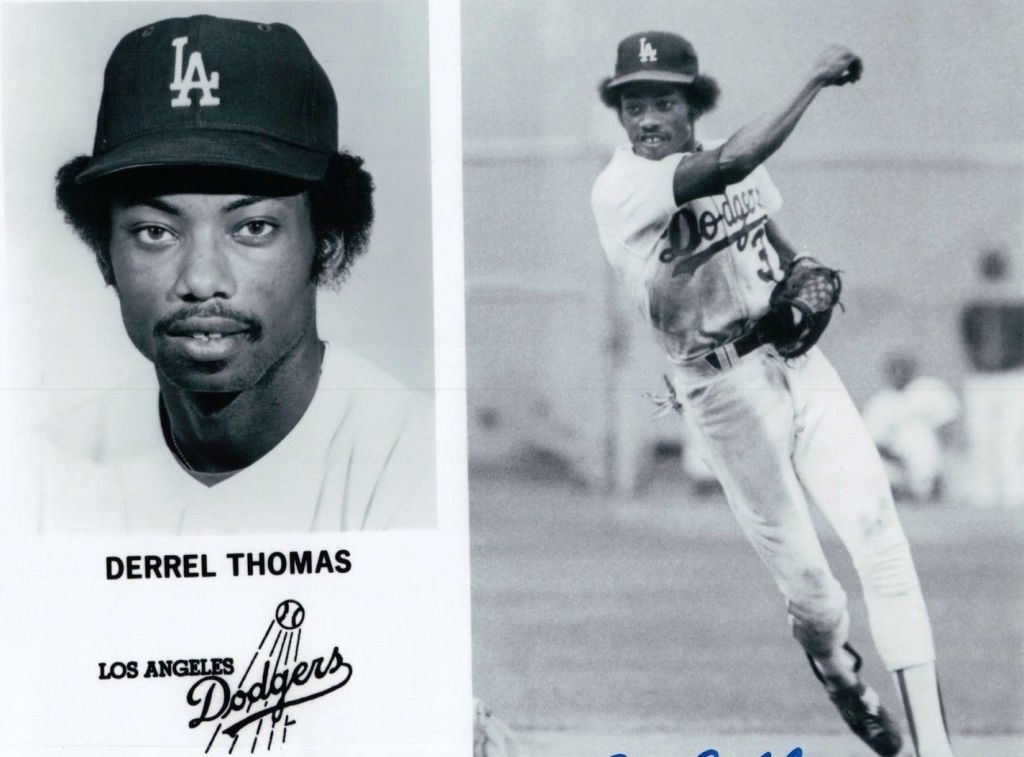 Derrel-Thomas-Signed-8X10-Photo-Autograph-LA-Dodgers