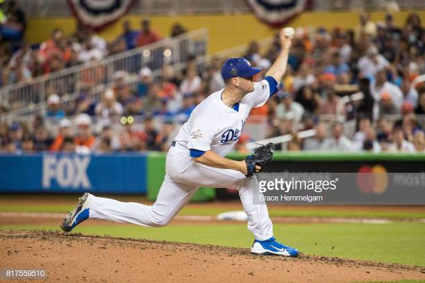 MIAMI, FL - JULY 11: National League All-Star Alex Wood #57 of the Los Angeles Dodgers pitches during the 88th MLB All-Star Game at Marlins Park on July 11, 2017 in Miami, Florida. (Photo by Brace Hemmelgarn/Minnesota Twins/Getty Images)