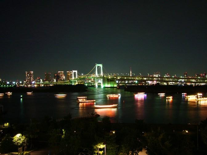 Night-time Rainbow Bridge
