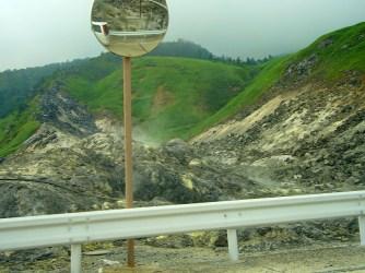 Sulphur deposits - this place stank!