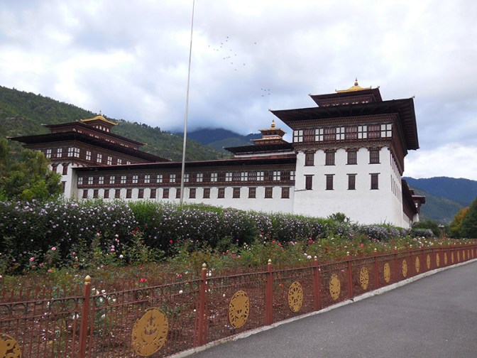 Tashichhoe dzong in all its glory