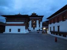 Nighttime courtyard