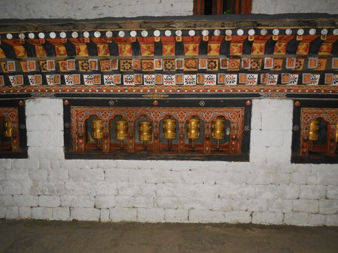 Prayer wheels - I was too afraid to ask a passing monk to pose for me!